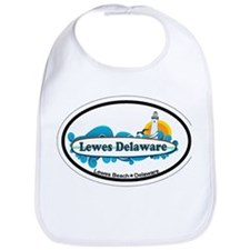 Lewes Beach DE - Oval Design Bib