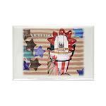 Americana 1: Home of the Brav Rectangle Magnet (10