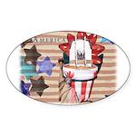 Americana 1: Home of the Brav Oval Sticker