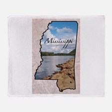 Cute Mississippi Throw Blanket