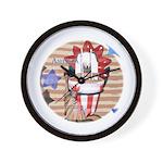 Americana 1: Home of the Brav Wall Clock