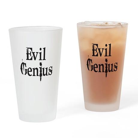 Evil Genius Drinking Glass