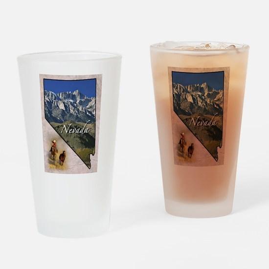 Cute Nevada Drinking Glass