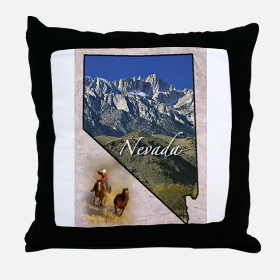 Cute Nevada Throw Pillow
