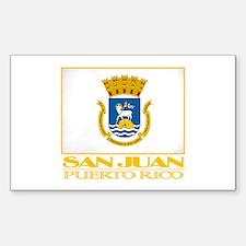San Juan Flag Sticker (Rectangle)