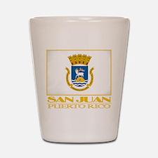 San Juan Flag Shot Glass