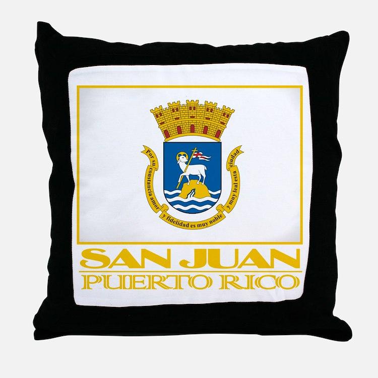 San Juan Flag Throw Pillow