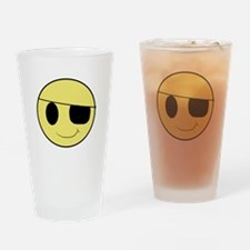 Pirate Smiley 1 Drinking Glass