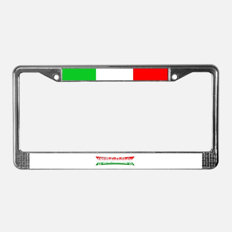 Cute Italiano License Plate Frame