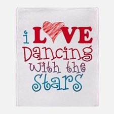I Love Dancing wtih the Stars Throw Blanket