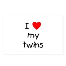 I love my twins Postcards (Package of 8)