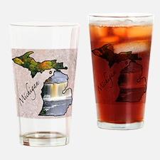 Cute Michigan state Drinking Glass