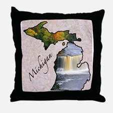 Funny Michigan Throw Pillow