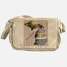 Funny Michigan Messenger Bag