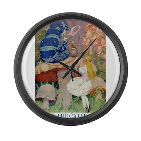 Alice & the Caterpillar Large Wall Clock