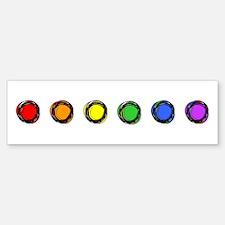 SO Gay Rainbow Dots Bumper Bumper Sticker