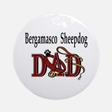 Bergamasco Sheepdog Ornament (Round)