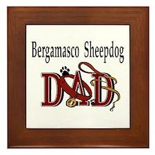 Bergamasco Sheepdog Framed Tile