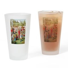 ALICE & THE QUEEN OF HEARTS Drinking Glass