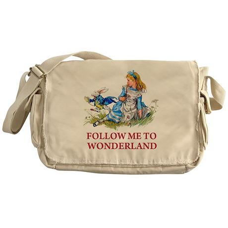 FOLLOW ME TO WONDERLAND Messenger Bag