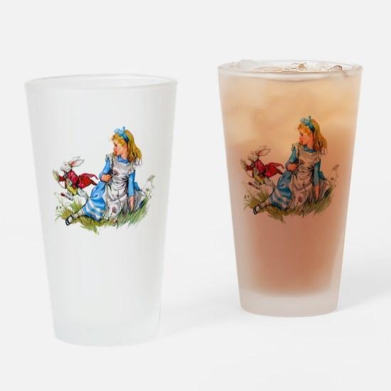 ALICE & THE RABBIT Drinking Glass