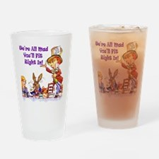 MAD HATTER RULES Drinking Glass