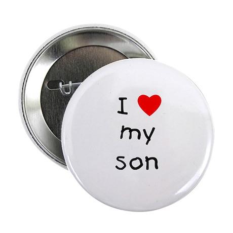 I love my son Button