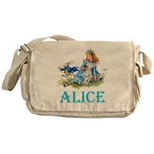 ALICE IN WONDERLAND - BLUE Messenger Bag