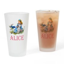 ALICE IN WONDERLAND - PINK Drinking Glass