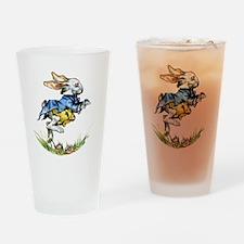WHITE RABBIT - FOLLOW ME Drinking Glass