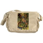 BEWARE THE JABBERWOCK Messenger Bag