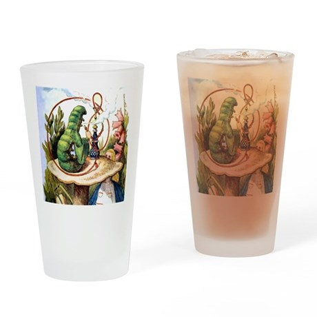 ALICE & THE CATERPILLAR Drinking Glass