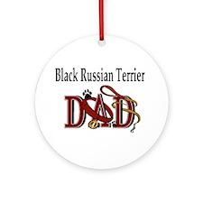 Black Russian Terrier Ornament (Round)
