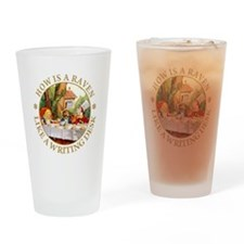MAD HATTER'S RIDDLE Drinking Glass