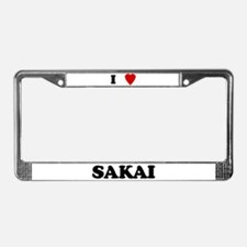 I Love Sakai License Plate Frame