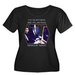 Rather Be Playing Space War Women's Plus Size Scoo