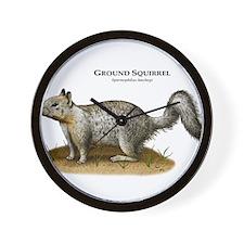 Ground Squirrel Wall Clock