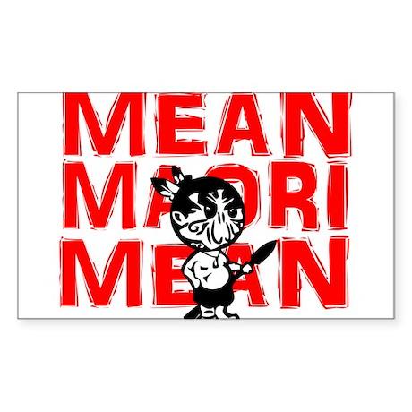 Mean Maori Sticker (Rectangle)