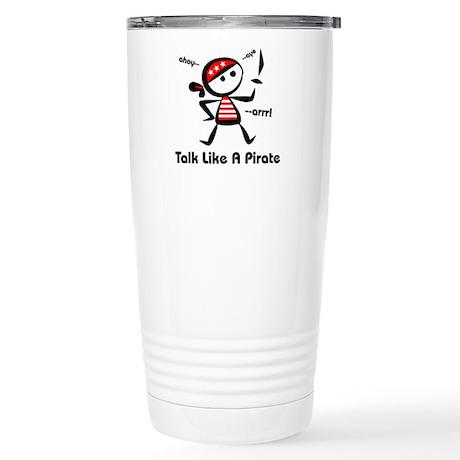 Talk Like A Pirate Stainless Steel Travel Mug