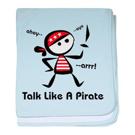 Talk Like A Pirate baby blanket