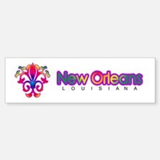 Colorful Sprouting Fleur de lis (red) Bumper Bumper Sticker