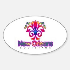 Colorful Sprouting Fleur de lis (red) Decal