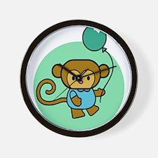 Monkey With Balloon Wall Clock