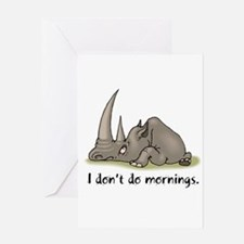 Lazy Rhino Greeting Card