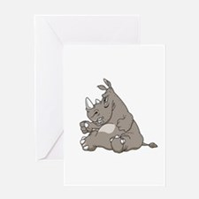 Rhino with an Attitude Greeting Card