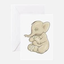 Sad Praying Elephant Greeting Card