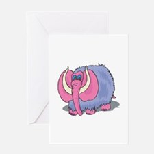 Silly Wooly Mammouth Greeting Card