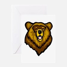 Grizzly Bear Face Greeting Card