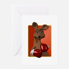 Kangaroo With Boxing Gloves Greeting Card
