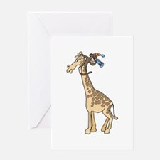 Silly Monkey & Giraffe Greeting Card